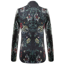Load image into Gallery viewer, Men Floral Blazer Autumn Slim Fit Wedding Party Blazers Personality Flower Tiger Pattern Male Blazer Jacket