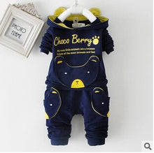 Load image into Gallery viewer, Baby Clothing Set Cotton Long-Sleeved Jacket +Pants Baby Boy Clothing Girls Suit Set 0-3 Year Children Clothes