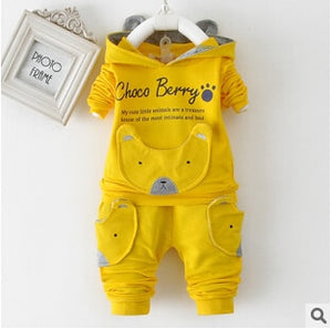 Baby Clothing Set Cotton Long-Sleeved Jacket +Pants Baby Boy Clothing Girls Suit Set 0-3 Year Children Clothes
