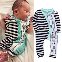 Load image into Gallery viewer, Baby Girl Boy Rompers Long Sleeve Stripe Cute Romper Jumpsuit Outfits Baby Boys Girls Clothes