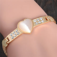Load image into Gallery viewer, High Quality Austrian Crystal Cat Eye Stone Bracelet Charm Fashion Jewelry