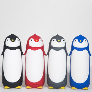Penguin Thermos Cup Stainless Steel innner Food grade Plastic Cover Cartoon Insulated Water Bottle