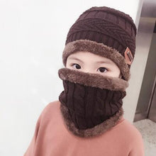 Load image into Gallery viewer, 2pcs warm Winter Beanies Knitted Hat and scarf for 3-12 years old girls and boys students Hats Caps Hat - moonaro