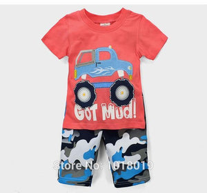 100% Cotton Summer Baby Boys Clothes Set 2pcs Children Clothing Suit Bebe Kids Short Sleeve Clothes Set Baby Boys - moonaro
