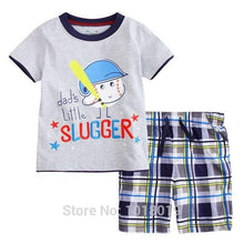 Load image into Gallery viewer, 100% Cotton Summer Baby Boys Clothes Set 2pcs Children Clothing Suit Bebe Kids Short Sleeve Clothes Set Baby Boys - moonaro
