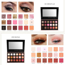 Load image into Gallery viewer, 18 Colors Glitter Matte Easy to Wear Warm Smokey Eye Shadow Palette Eyes Cosmetics - moonaro