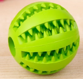 Dog Toy Interactive Rubber Balls Pet Dog Cat Puppy Chew Toys Ball Teeth Chew Toys Tooth Cleaning Balls Food - moonaro
