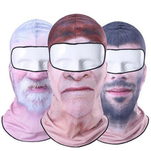 Load image into Gallery viewer, 3D Clown Beard Man Motorcycle Balaclava Full Face Mask Warm Helmet Liner Ski Paintball Snowboard Biker Riding  Shield Hood