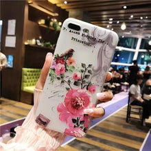 Load image into Gallery viewer, iPhone 6 S 6S Plus 6Plus iPhone 7 8 7Plus 8Plus X XS Max XR 5 5S SE Beauty Girly Flower Soft Silicone Back Cover