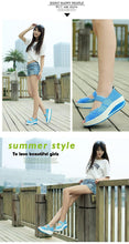 Load image into Gallery viewer, Peep Toe Wedges Colorful Breathable Beach Sandals Woven Platform women's Sandals Shoes For Woman Jelly Shoes