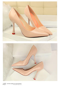 Women Thin Heels Women Pumps Career OL Sexy Ladies shoes Concise Women Shallow Mouth Shoe Women Shoes High Heel