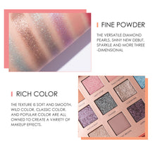 Load image into Gallery viewer, Eyeshadow Palette 18 Colors Long-lasting Glitter Pigment Waterproof Easy to Wear Eye Shadow Shimmer Make up - moonaro