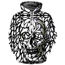 Load image into Gallery viewer, New Fashion Men/Women Hooded Hoodies 3d Print Cashew Paisley Flower Skull Thin 3d Sweatshirts Brand Hoodies