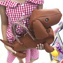 Load image into Gallery viewer, Women Casual Zipper Solid Soft Single Amliya Trendsetter Essential Shoulder Bag Tote Dachshund Cross Simulation