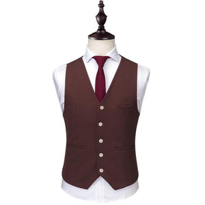 Burgundy Suits For Men 3 Piece Formal Business Suits Men's Dress Suits High Quality Slim Fit Groom Wedding Tuxedo