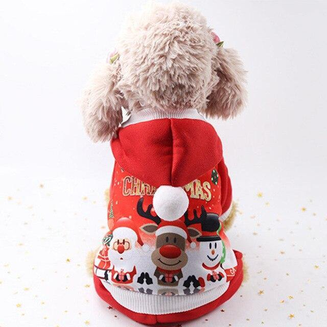 Christmas Dog Clothes Winter Pet Clothes for Small Dog Coat Jacket Costume Hoodies Warm Cat Santa Claus Christmas Pet Apparel