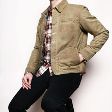 Load image into Gallery viewer, cotton canvas wax water proof jacket Men Outwear Canvas Coat Jacket
