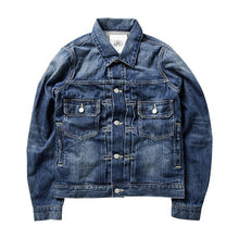 Load image into Gallery viewer, cotton denim jacket casual long sleeve washed denim coat