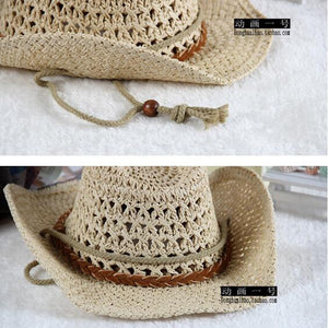 2 3 4 5 6 years cowboy hat Summer travel sun hat boy's straw cap beach hat for kids children hat cap for boys - moonaro