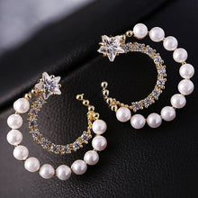 Load image into Gallery viewer, Classic Elegant Long Earrings For Women Fashion Geometric Crystal Gold Color Water Drop Earring Brincos Bijoux Jewelry - moonaro