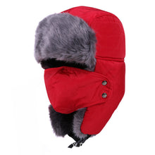 Load image into Gallery viewer, Winter Hat Bomber Hats For Men Women Thicken Balaclava Cotton Fur Winter Earflap Keep Warm Caps Russian Skull Mask Bomber Hats