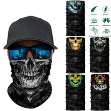 Load image into Gallery viewer, 3D Seamless Skull Magic Neck Gaiter Face Mask Head Shield Sport Camping Cycling Fishing Bandana Headband Scarf Men Women - moonaro