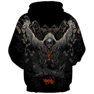 New Fashion Brand Halloween Hoodies Men/Women Thin 3d Sweatshirts Print Cool Skulls Hooded Hoodies