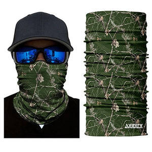 3D Jungle Tree Neck Gaiter Face Shield Tube Military Cycling Hunting Airsoft Fishing Tactical Bandana Scarf Men Women Mask - moonaro