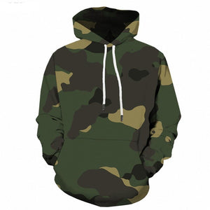 Green Camo Hoodie Men Camouflage Military 3d Hoodies Anime Geometry Print Sweatshirt Gothic Men's