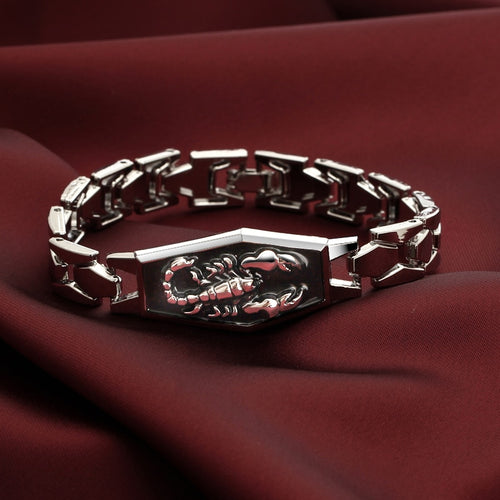 Stainless Steel Bracelets Men Scorpion Charms Men Bracelets Punk Man Bracelets & Bangles