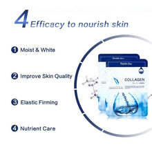 Load image into Gallery viewer, Korea cosmetics hydrolyzed collagen mask nutrient moisturizing anti age elastic whitening anti wrinkle facial mask sheet