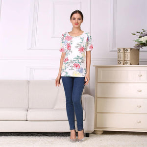 Short Sleeve Nursing Shirt Maternity Clothes Nursing Tops Breastfeeding Clothing for Pregnant Women shirts