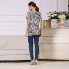 Load image into Gallery viewer, Short Sleeve Leopard Maternity Nursing Clothes Breastfeeding T-Shirt Pregnancy Tops for pregnant women Summer Tee
