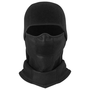 Polar Fleece Wool Balaclava Motorcycle Neck Warmer Full Face Mask Breathable Windproof Bicycle Ski Snowboard Workout Black Liner