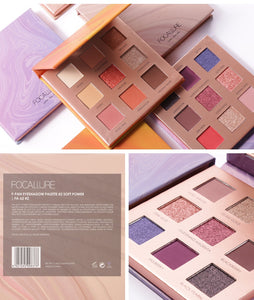 New Arrival Charming Eyeshadow 9 Color Palette Make up Palette Matte Shimmer Pigmented Eye Shadow Powder