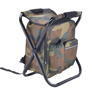 Portable Fishing Chair Folding Multifunctional Fishing Bag Oxford Cloth Camping Chair with Storage Bag Ice 36 * 29 * 41cm