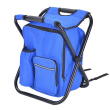 Load image into Gallery viewer, Portable Fishing Chair Folding Multifunctional Fishing Bag Oxford Cloth Camping Chair with Storage Bag Ice 36 * 29 * 41cm