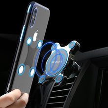 Load image into Gallery viewer, Car Qi Wireless Charger For iPhone X XS MAX Fast Charger Magnetic Car Phone Holder For Samsung Galaxy S9 S8 Plus Note 9