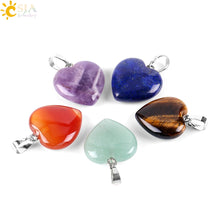 Load image into Gallery viewer, Love Heart Necklaces & Pendants for Lover Gem Stone Pink Quartz White Crystal Healing Necklace