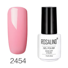Load image into Gallery viewer, Nails Art Gel Nail Polish 7ML Vernis Semi Permanent Primer Manicure Gel Varnish Soak Off UV Colors White Bottle