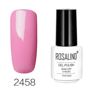 Nails Art Gel Nail Polish 7ML Vernis Semi Permanent Primer Manicure Gel Varnish Soak Off UV Colors White Bottle