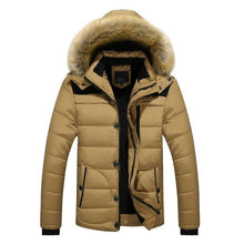Load image into Gallery viewer, Warm Winter Parka Jacket Men Hooded Casual Slim Parka Men's Winter Coat