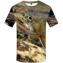 Load image into Gallery viewer, Fish Tshirt Men Funny T-shirt Tropical Ocean 3d Print T Shirt Animal Anime Clothes Fisher Punk Rock Men's Clothing Summer