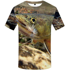 Fish Tshirt Men Funny T-shirt Tropical Ocean 3d Print T Shirt Animal Anime Clothes Fisher Punk Rock Men's Clothing Summer