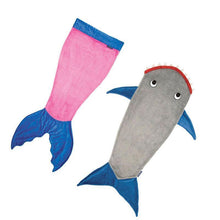 Load image into Gallery viewer, Winter Soft Fleece Shark Mermaid Tail Blanket Children Sleeping Sack Blanket Kids Mermaid Blanket Sleep Sack Birthday Gift