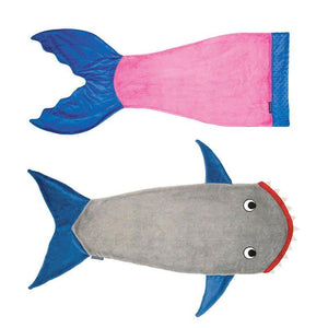 Winter Soft Fleece Shark Mermaid Tail Blanket Children Sleeping Sack Blanket Kids Mermaid Blanket Sleep Sack Birthday Gift
