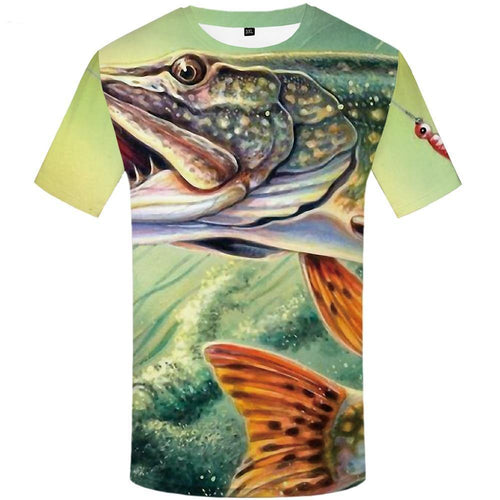 Fish T Shirt Men Anime Printed Tshirt Animal Hip Hop Tee Tracksuits Fishinger Art 3d T-shirt Funny Punk Rock Men's Clothing