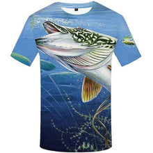 Load image into Gallery viewer, Fish T Shirt Men Anime Printed Tshirt Animal Hip Hop Tee Tracksuits Fishinger Art 3d T-shirt Funny Punk Rock Men's Clothing