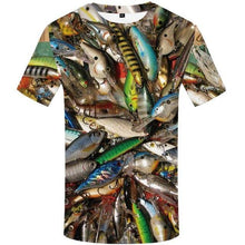 Load image into Gallery viewer, Fish 3d T Shirt Men Hip Hop Tshirt Fisherman Tropical Print T-shirt Funny T Shirts Summer Fisher Animal Men's Clothing