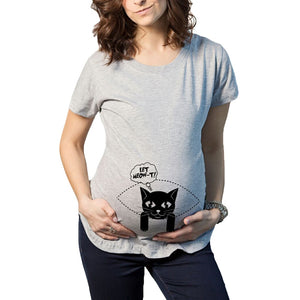 Pregnant Maternity T-Shirt Casual Pregnancy Clothes Funny Shirt Women Marternity Clothing Cotton Maternity Mom Wear